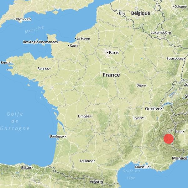 Localisation du hameau des Guions en France