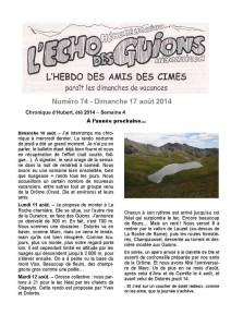 L'écho des Guions n°74-couverture_
